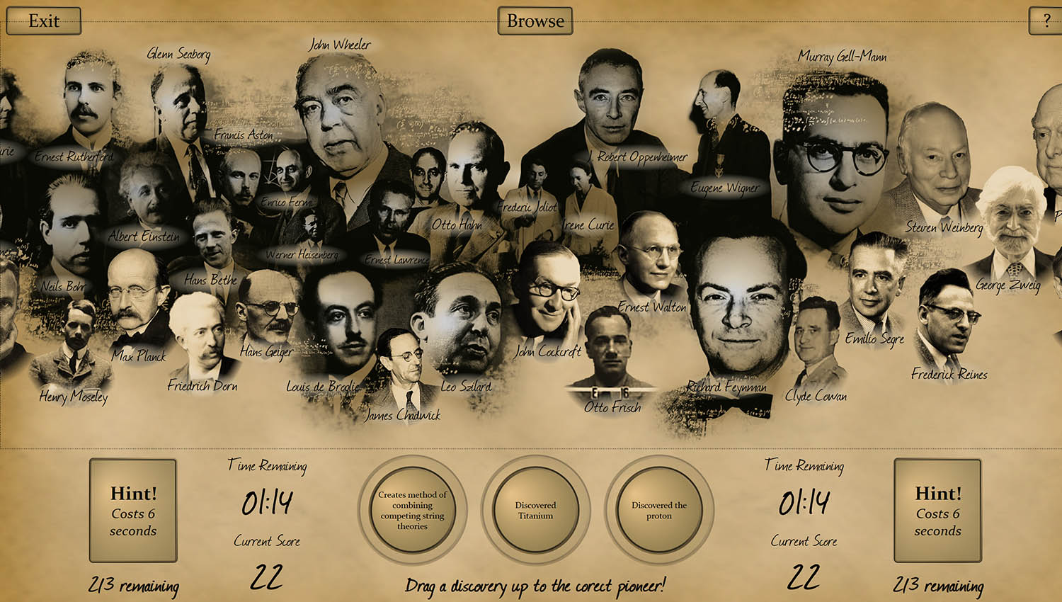 Pioneers of the Atom Game