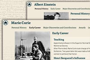 Marie Curie and Albert Einstein